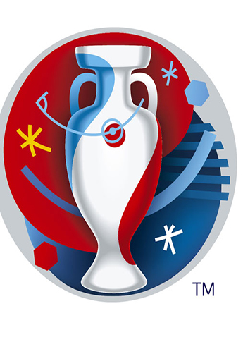 "A handout image from UEFA shows the logo of the upcoming Euro 2016 European football championships taking place in France which was unveiled on November 18, 2014 in Marseille. RESTRICTED TO EDITORIAL USE - MANDATORY CREDIT ""AFP PHOTO / UEFA"" - NO MARKETING NO ADVERTISING CAMPAIGNS - DISTRIBUTED AS A SERVICE TO CLIENTS"